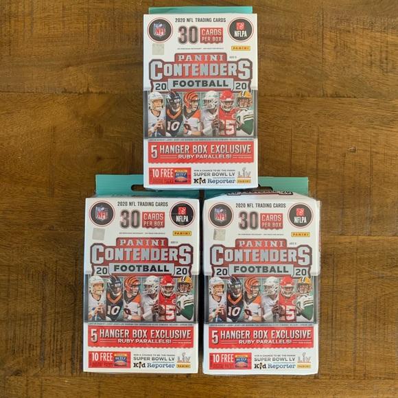 Panini NFL Contenders Hanger Box Football Card Lot